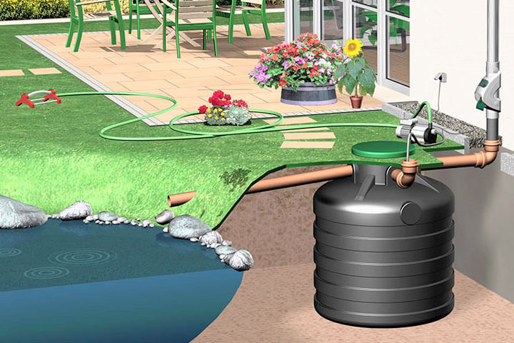 Gartenpumpe für mobile Bewässerung.